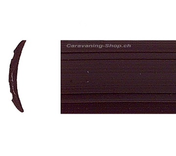 Leistenf/üller uni schwarz//braun Hobby 12,5mm breit